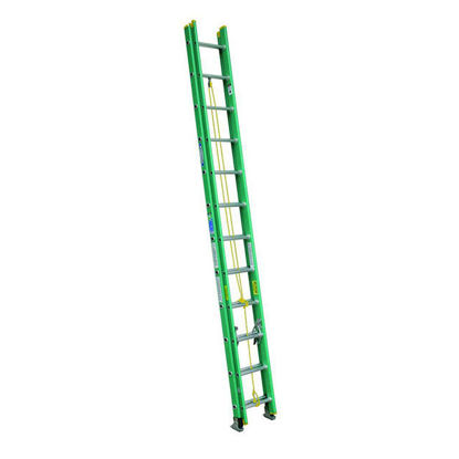 Picture of Jinmao Fiberglass Extension Ladder Green 16 Feet (2x8) 22 lbs, JMFM42208II