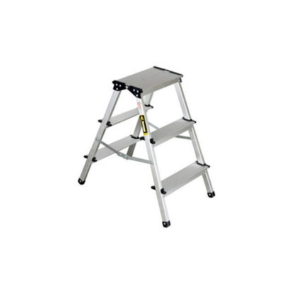 Picture of Jinmao Aluminum 3 Steps Folding Step Ladder, JMA082203