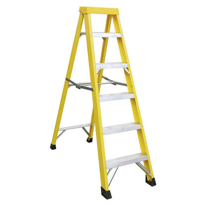 Picture of Jinmao 5 Step Fiberglass Step Ladder 250 lbs, JMFM22105I