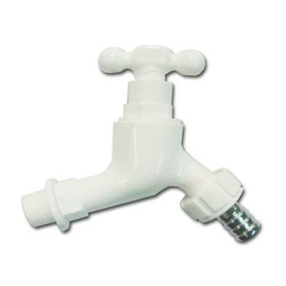 Picture of Omega Plastic Tap Faucet Screw Type with Hose Bib 1/2 inch x 4 in, PT-8128